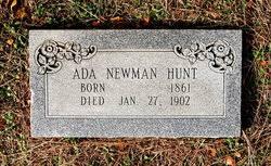 Ada Elizabeth Newman Hunt (1861-1902) - Find A Grave Memorial