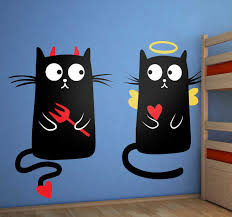 Good Cat Bad Cat Wall Decal Tenstickers