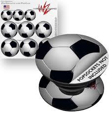Decal Style Vinyl Skin Wrap 3 Pack For Popsockets Soccer Ball Popsocket Not Included By Wraptorskinz Walmart Com Walmart Com