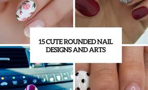 15 cute rounded nail designs and arts