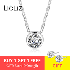 925 sterling silver simple round cz