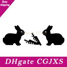 2020 16 6cm 5 5cm Lovely Rabbits Cartoon Decorate Pattern Car Sticker Car Door Vinyl Decal From Egbdhydnn 3 11 Dhgate Com