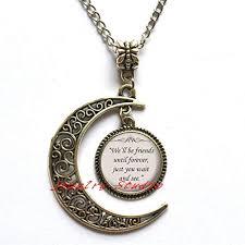 com charming fashion moon necklace,quote pendant
