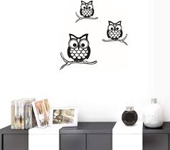 Amazon Com Bibitime Nursery Decor Vinyl Sticker 3 Branches Owls Wall Decal Birds Family Living Room Pvc Decorations Baby Kids Boys Girls Children Bedroom Classroom Art Decals Home Kitchen