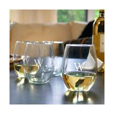 collection stemless wine glasses set