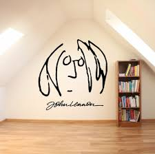 Famous Portrait Wall Art Decals John Lennon Self Portrait Wall Sticker Home Living Room Decoration Signature Wall Posters Art Aliexpress