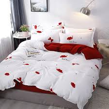 home textile lip print pattern bed