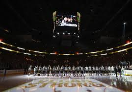 somber scene before vegas home opener
