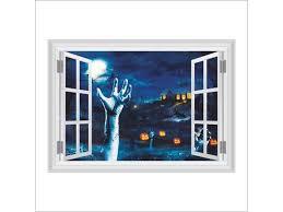 3d Horror Blood Hand Faux Window Stickers Happy Halloween Decoration Wall Sticker Decal Decor Newegg Com