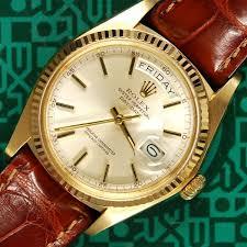 day date 1803 plexi strap rolex buckle 1977