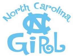 Amazon Com Unc Tar Heels North Carolina Girl Clear Vinyl Decal Car Truck Sticker North Carolina Wc Everything Else