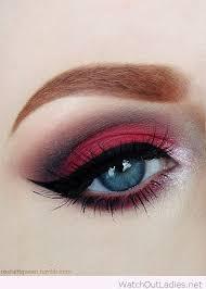 black eye make up red eye makeup