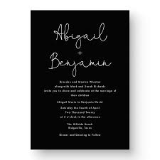 Abigail White Ink Wedding Invitation - Lily & Roe Co.