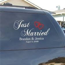 Wedding Decal Just Married Decal For Vehicles Etsy Just Married Wedding Decal Just Married Car