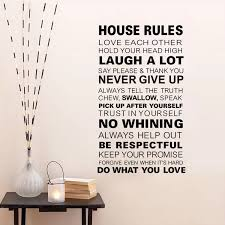 House Rules Vinyl Quote Wall Decal Family Rule Home Decor Living Room Bedroom Art Wallpaper Removable Wall Sticker Wall Sticker Removable Wall Stickersquote Wall Decal Aliexpress