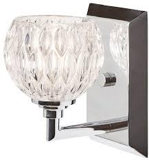 bathroom wall light cut glass shade