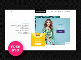 fashion free psd template by luis