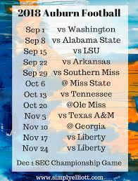 2018 Auburn Football Schedule ...