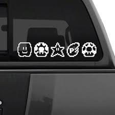 Mario Bros Power Ups Car Decal The Decal Guru