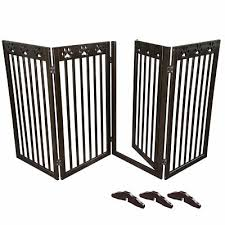 203x91cm 4 Panel Folding Pet Gate Adjustable Wood Dog Fence Baby Safety Tall 657258067660 Ebay