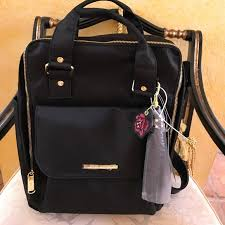 steve madden bags black and gold