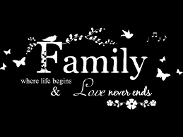 Amazon Com Blinggo Matte White 31 X 14 Family Letter Quote Removable Vinyl Decal Art Mural Home Decor Wall Stickers Home Kitchen