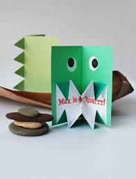 Monster Pop Up Card Roar Fiesta De Dinosaurios Invitaciones