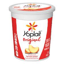 harvest peach yogurt