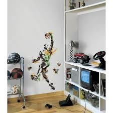 Roommates 22 5 In X 52 In Men S Basketball Champion Peel And Stick Giant Wall Decal Rmk2571gm The Home Depot