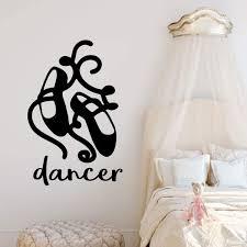 Personalized Ballet Dancer Shoes Vinyl Wall Decal For Girls Bedroom Customvinyldecor Com