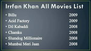 irrfan khan movies list || irrfan khan all film list - YouTube