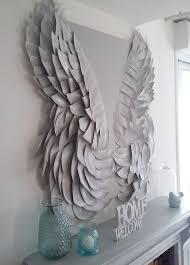 mantel makeover diy angel wings