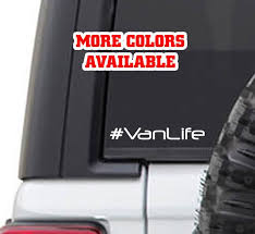 Van Life Vinyl Sticker Decal Rvlife Rving Camping Rv Etsy