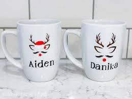 diy reindeer mug dollar crafts