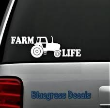 B1023 Farm Life Tractor Decal Sticker For Car Truck Suv Van Laptop Barn Art Ebay