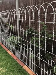 Double Loop Roll Top Wire Fence 125 Roll X 4 Tall Decorative Double Loop Wire Fence Vintage Style Farm Fence Wire Fence Dog Fence
