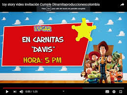 Video Invitacion De Toys Story Para Enviar Por Whatsapp 171 60