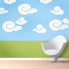 Whimsy Clouds Wall Stencil Kit