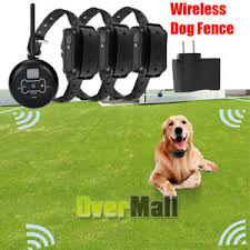Wireless Electric Dog Fence Pet Containment System Shock Collars For 2 3 Dogs A Ebay