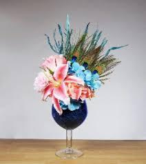 peacock fl arrangement in large
