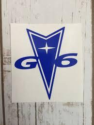 Pontiac G6 Vinyl Decal Sticker Car Window By Wagskruisinkreations Pontiac Emblem Car Wall Art Vinyl Decal Stickers