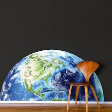 Half Earth Wall Decal Mural Kids Room Wall Sticker Bedroom Apartment D American Wall Designs