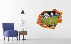 New York Mets Stadium Wall Decal Egraphicstore
