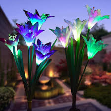 lily flower lights multi color changing