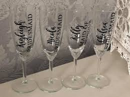 Personalised Champagne Flute Transfers Decals Wedding Hen Do Bridal Bride Groom Do It Your Self Champagne Glass Decal Vinyl Transfer