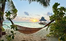 tropical sunsets sea sand beach holiday