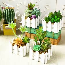 Ts Artificial Succulent Plant Potted Fence Bonsai Living Room Office Garden Decor Shopee Philippines