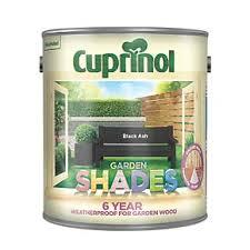 Cuprinol Garden Shades Woodstain Matt Black Ash 2 5ltr Exterior Wood Paint Screwfix Com