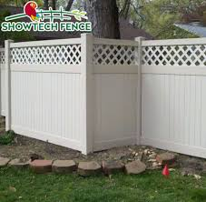 China Showtech Cheap 6 H 8 W Plastic Pvc Lattice Top Privacy Fence Panels China Vinyl Fence Pool Fence