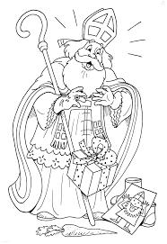 Kleurplaat Sinterklaas Sint Sint Laat Kado Vallen